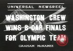 Image of Washington team United States USA, 1936, second 1 stock footage video 65675058817