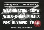 Image of Washington team United States USA, 1936, second 3 stock footage video 65675058817