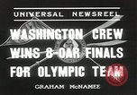 Image of Washington team United States USA, 1936, second 7 stock footage video 65675058817