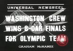 Image of Washington team United States USA, 1936, second 9 stock footage video 65675058817