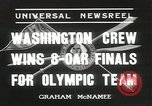 Image of Washington team United States USA, 1936, second 10 stock footage video 65675058817