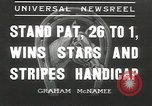 Image of Stars and Stripes handicap Chicago Illinois USA, 1936, second 1 stock footage video 65675058820