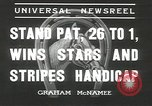 Image of Stars and Stripes handicap Chicago Illinois USA, 1936, second 3 stock footage video 65675058820