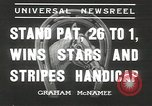 Image of Stars and Stripes handicap Chicago Illinois USA, 1936, second 4 stock footage video 65675058820