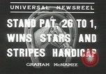 Image of Stars and Stripes handicap Chicago Illinois USA, 1936, second 8 stock footage video 65675058820