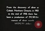 Image of silver mining Ontario Canada, 1920, second 9 stock footage video 65675058840