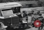 Image of US 82nd Airborne Division paratroopers board buses in England European Theater, 1944, second 10 stock footage video 65675058843