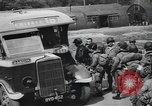 Image of US 82nd Airborne Division paratroopers board buses in England European Theater, 1944, second 11 stock footage video 65675058843
