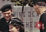 Image of American soldiers board landing craft at English port England, 1944, second 9 stock footage video 65675058887