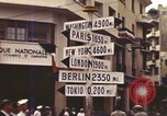 Image of Sign pointing to major cities in the world Casablanca Morocco, 1944, second 6 stock footage video 65675058907