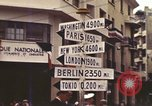 Image of Sign pointing to major cities in the world Casablanca Morocco, 1944, second 7 stock footage video 65675058907
