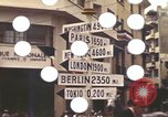 Image of Sign pointing to major cities in the world Casablanca Morocco, 1944, second 8 stock footage video 65675058907