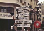 Image of Sign pointing to major cities in the world Casablanca Morocco, 1944, second 9 stock footage video 65675058907