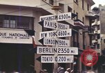 Image of Sign pointing to major cities in the world Casablanca Morocco, 1944, second 10 stock footage video 65675058907