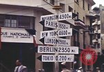 Image of Sign pointing to major cities in the world Casablanca Morocco, 1944, second 11 stock footage video 65675058907