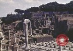 Image of Ancient ruins of the Roman Forum  Rome Italy, 1944, second 4 stock footage video 65675058910