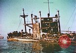 Image of damaged ship Manila Philippines, 1945, second 3 stock footage video 65675058923