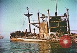Image of damaged ship Manila Philippines, 1945, second 7 stock footage video 65675058923