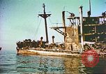 Image of damaged ship Manila Philippines, 1945, second 12 stock footage video 65675058923