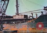 Image of damaged ship Manila Philippines, 1945, second 7 stock footage video 65675058924