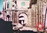 Image of damaged cathedral Manila Philippines, 1945, second 12 stock footage video 65675058926