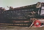 Image of damaged landing crafts Manila Philippines, 1945, second 7 stock footage video 65675058932