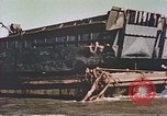 Image of damaged landing crafts Manila Philippines, 1945, second 8 stock footage video 65675058932
