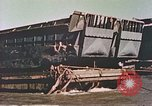 Image of damaged landing crafts Manila Philippines, 1945, second 9 stock footage video 65675058932