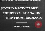 Image of Princess Ileana Beirut Lebanon, 1930, second 1 stock footage video 65675058937