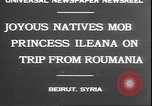 Image of Princess Ileana Beirut Lebanon, 1930, second 2 stock footage video 65675058937