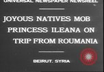 Image of Princess Ileana Beirut Lebanon, 1930, second 5 stock footage video 65675058937