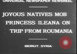 Image of Princess Ileana Beirut Lebanon, 1930, second 6 stock footage video 65675058937