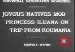 Image of Princess Ileana Beirut Lebanon, 1930, second 7 stock footage video 65675058937