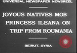 Image of Princess Ileana Beirut Lebanon, 1930, second 8 stock footage video 65675058937