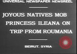 Image of Princess Ileana Beirut Lebanon, 1930, second 9 stock footage video 65675058937