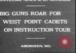 Image of West Point cadets Aberdeen Maryland USA, 1930, second 1 stock footage video 65675058938
