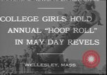 Image of hoop roll race Wellesley Massachusetts USA, 1930, second 1 stock footage video 65675058939