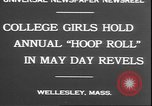 Image of hoop roll race Wellesley Massachusetts USA, 1930, second 2 stock footage video 65675058939