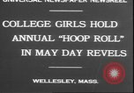 Image of hoop roll race Wellesley Massachusetts USA, 1930, second 3 stock footage video 65675058939