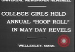 Image of hoop roll race Wellesley Massachusetts USA, 1930, second 4 stock footage video 65675058939