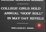 Image of hoop roll race Wellesley Massachusetts USA, 1930, second 5 stock footage video 65675058939