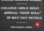 Image of hoop roll race Wellesley Massachusetts USA, 1930, second 6 stock footage video 65675058939