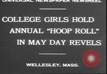 Image of hoop roll race Wellesley Massachusetts USA, 1930, second 8 stock footage video 65675058939
