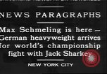 Image of Max Schmeling New York United States USA, 1930, second 1 stock footage video 65675058940