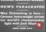 Image of Max Schmeling New York United States USA, 1930, second 2 stock footage video 65675058940