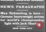 Image of Max Schmeling New York United States USA, 1930, second 6 stock footage video 65675058940
