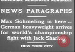 Image of Max Schmeling New York United States USA, 1930, second 9 stock footage video 65675058940