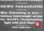 Image of Max Schmeling New York United States USA, 1930, second 10 stock footage video 65675058940