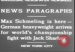 Image of Max Schmeling New York United States USA, 1930, second 11 stock footage video 65675058940