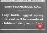 Image of girls dancing around May poles San Francisco California USA, 1930, second 2 stock footage video 65675058941